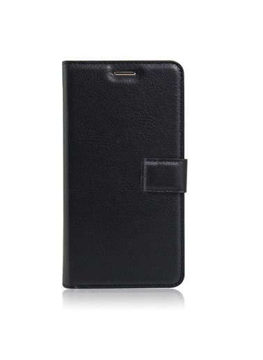 Microsonic Cüzdanlı Deri iPhone 8 Kılıf  Siyah